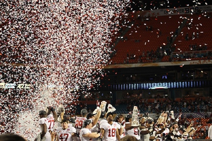 8.) The years 2010, 2011, 2012 and 2013 when one of our college football teams, Alabama Crimson Tide and Auburn Tigers, became the national champions. The state of Alabama brought home the crystal BCS trophy FOUR YEARS IN A ROW!
