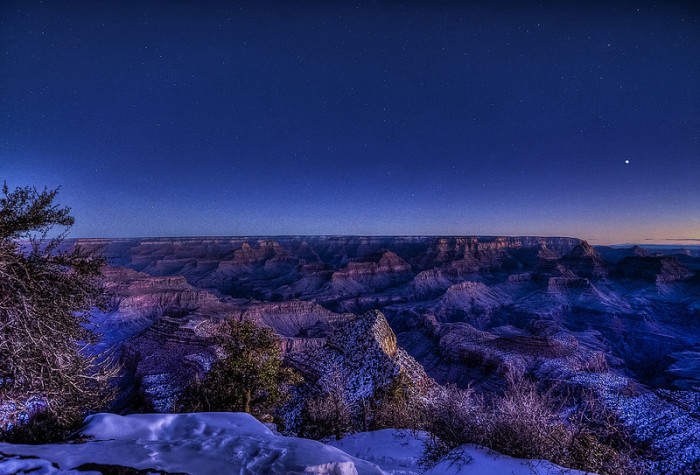 1. The Grand Canyon just before sunrise.