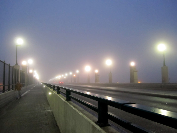 Lincoln's Harris Overpass is lit up like a magical gateway to somewhere.