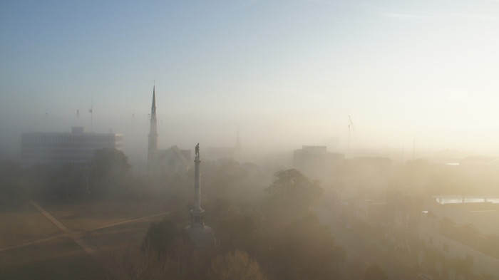 10. The photographer caught an ethereal sight when he took this aerial shot of Francis Marion.
