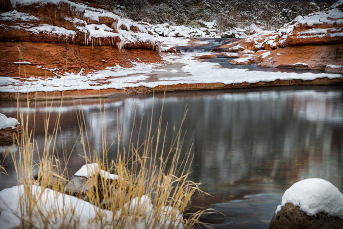 14. A chilling view of Slide Rock near Sedona.
