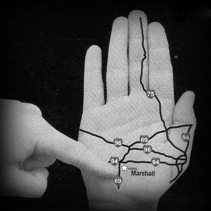 15) You don't hesitate to show people where you're from by pointing to a spot on the back of your hand