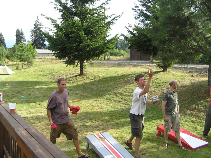 12) A graduation party, cookout or any other outdoor celebration feels incomplete without a game of cornhole.