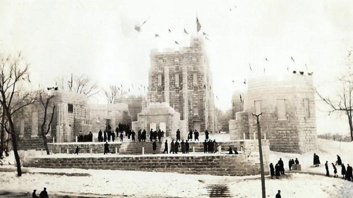 2. Then - The 1940 Winter Carnival Ice Palace in St. Paul.