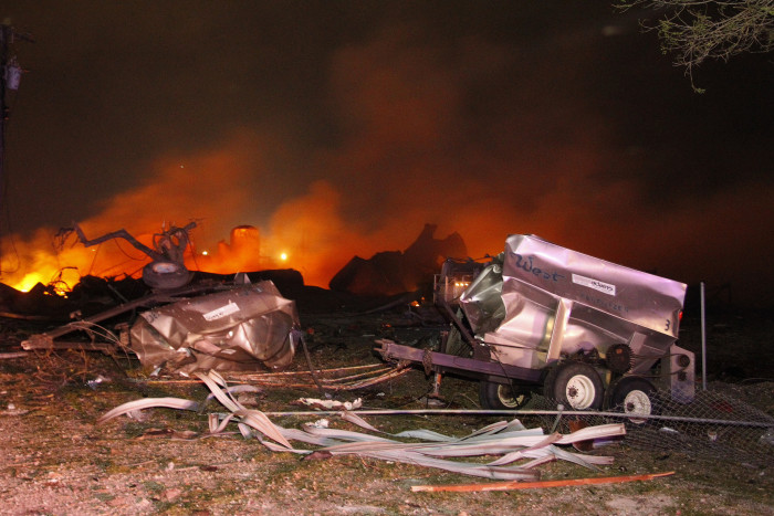6) The West Texas fertilizer plant explosion in 2013 was no accident.