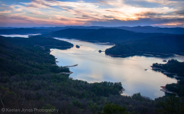 11. Jocassee Lake as seen from Jumping Rock.