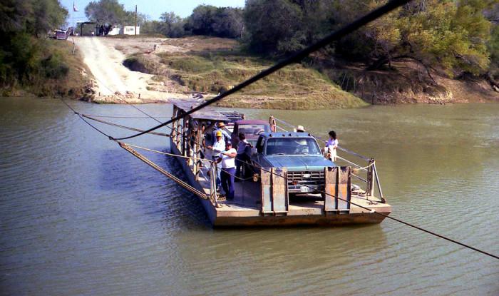 10) Los Ebanos Ferry (from Los Ebanos, TX to Ciudad Diaz Ordaz, Tamaulipas)