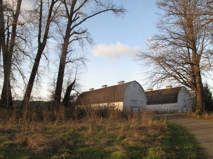6. Nisqually's twin barns make for twice the amount of beauty!