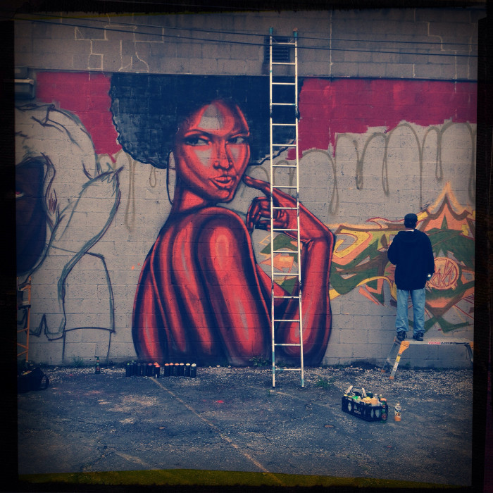 1. The detail the street artist put into the woman on the wall is incredible!