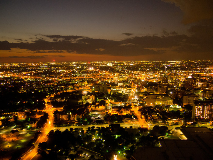 7) A stunning view from the Tower of the Americas in San Antonio.