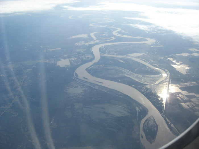 9. The Mighty Mississippi just south of Natchez.