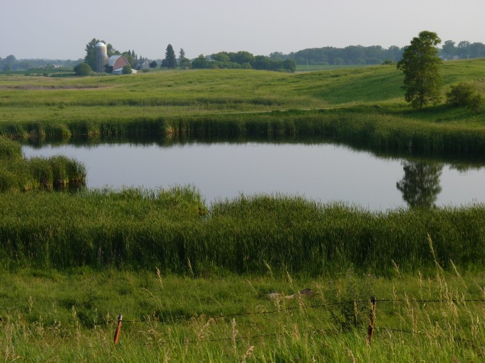 16. This pond makes the otherwise normal Minnesota scenery extraordinary.