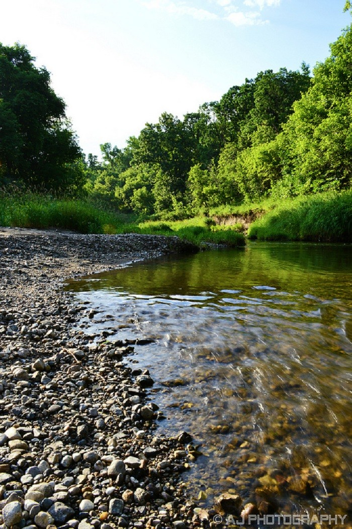 10. I love the sound water makes as it washes over the pebbles along the Turtle River in the Turtle River State Park, located in Arvilla, North Dakota.