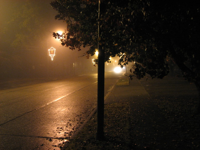 9. Could you imagine the uneasy feeling of walking down this street at night…alone?