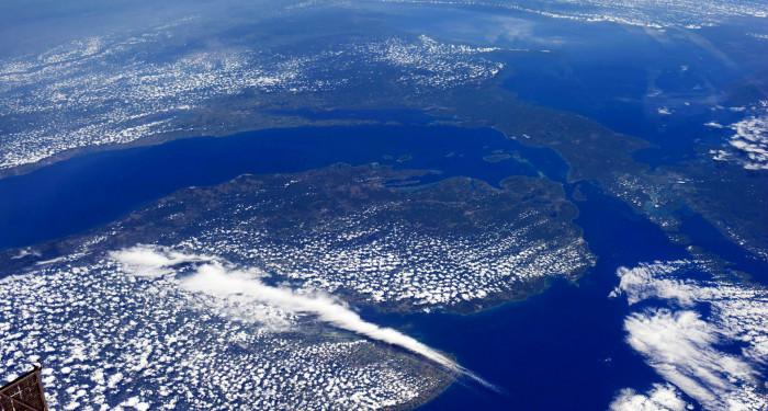 10) Aerospace shot of Michigan
