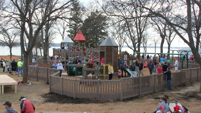 4. The Litchfield Community Built Playground is a team-built masterpiece in a great park for the whole family.