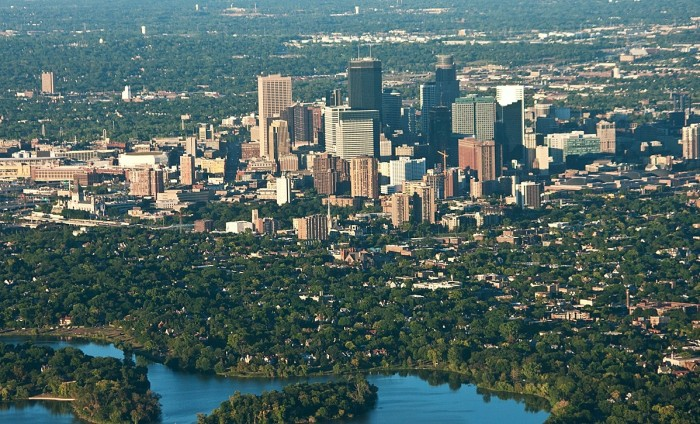 1. Minneapolis from the skies is a wonderful sight to behold.