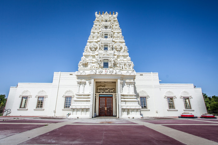 9. The Hindu Temple & Cultural Center of Iowa in Madrid