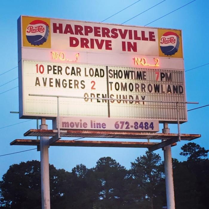 8. Harpersville Drive In - Harpersville, AL