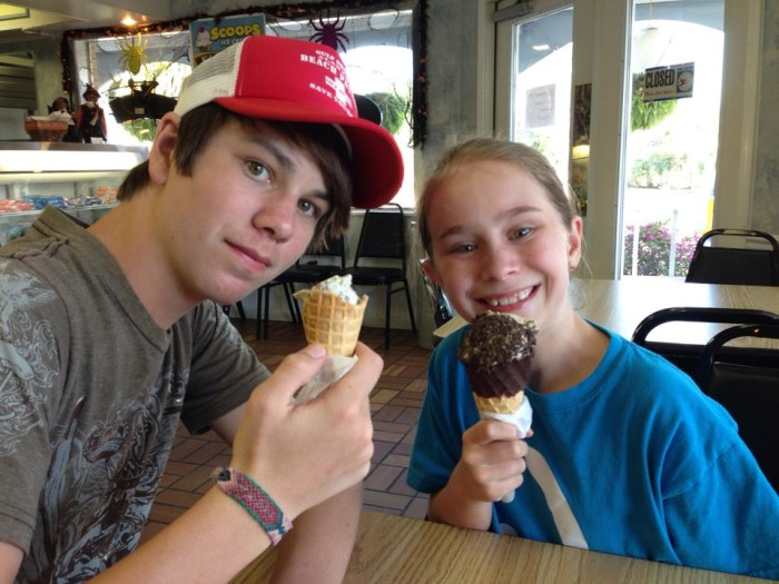 6. Visit an ice cream parlor for a delicious treat.
