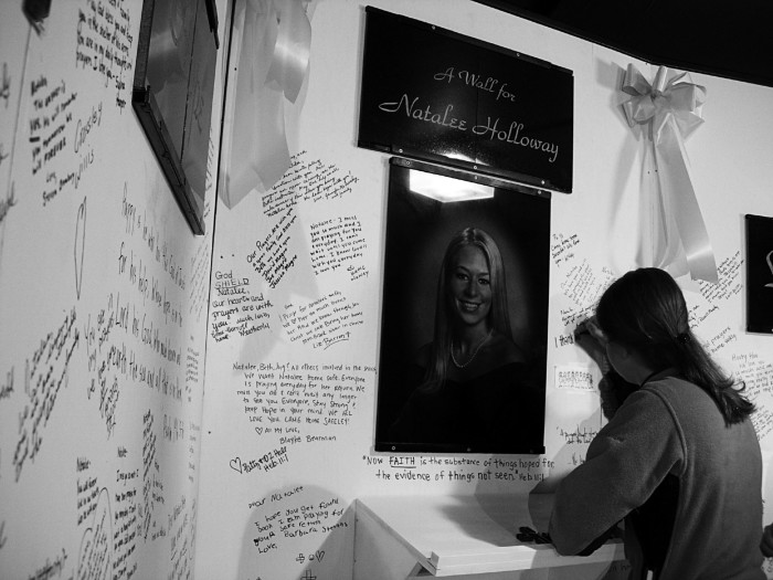 4.) When Natalee Holloway, of Mountain Brook, Alabama, disappeared in Aruba on May 30, 2005 while on her high school graduation trip.