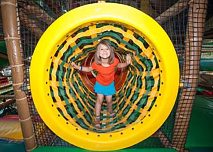 5. Edinborough Park in Edina is an awesome-sized indoor park with plenty of obstacles and play areas among other fun activities.