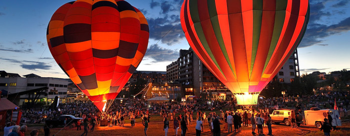 2.) Hot Air Balloon Rodeo (Steamboat Springs)