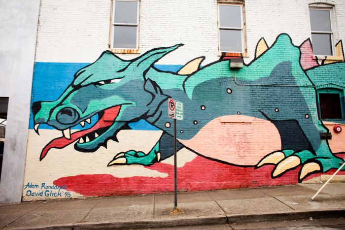 15) This dragon outside the Belcourt Theater is AWESOME
