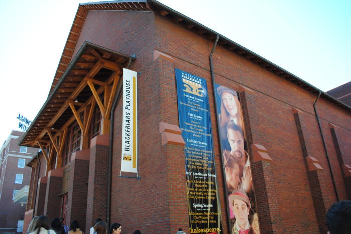 1. American Shakespeare Center's Blackfriars Playhouse
