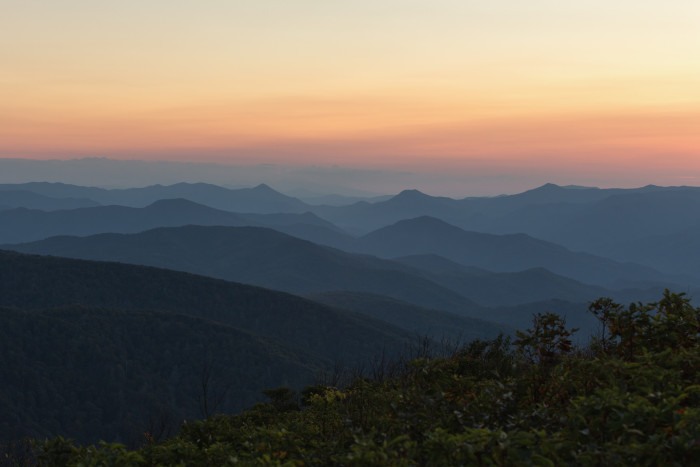 Dawn in the smokies.