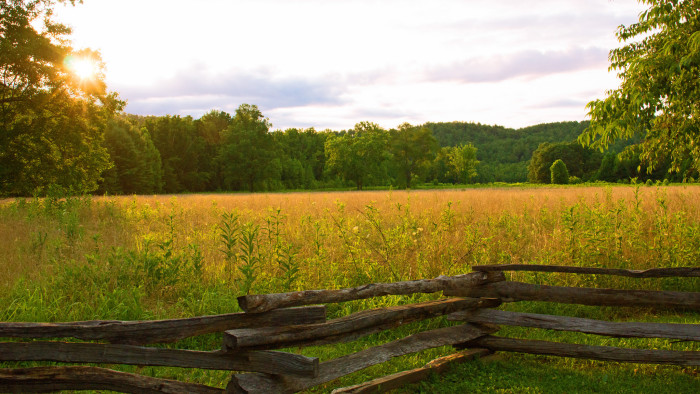 1) Cades Cove - Great Smoky Mountains