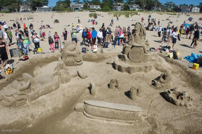 9) Cannon Beach Sandcastle Contest