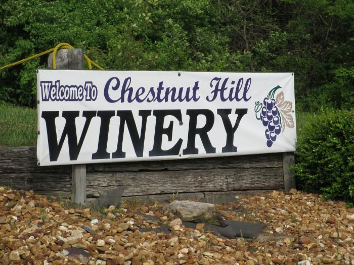 7) Chestnut Hill Winery - Crossville