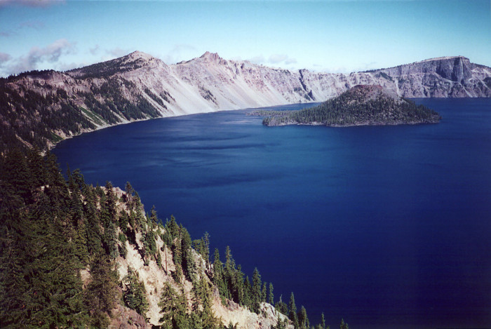 5) Crater Lake is the deepest lake in the United States.