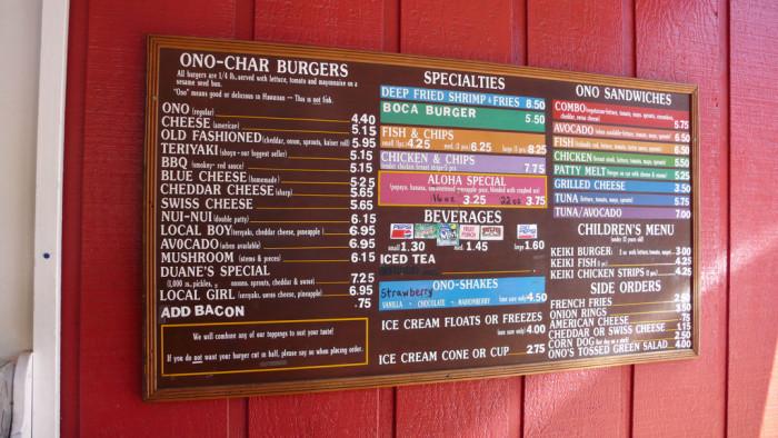 7) Duane's Ono-Char Burger, Kauai