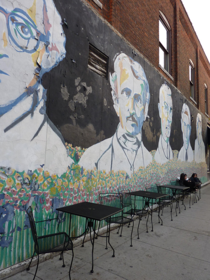 13) Edgar Allan Poe, Hermann Hesse, Anais Nin, Franz Kafka, Woody Allen in Ann Arbor