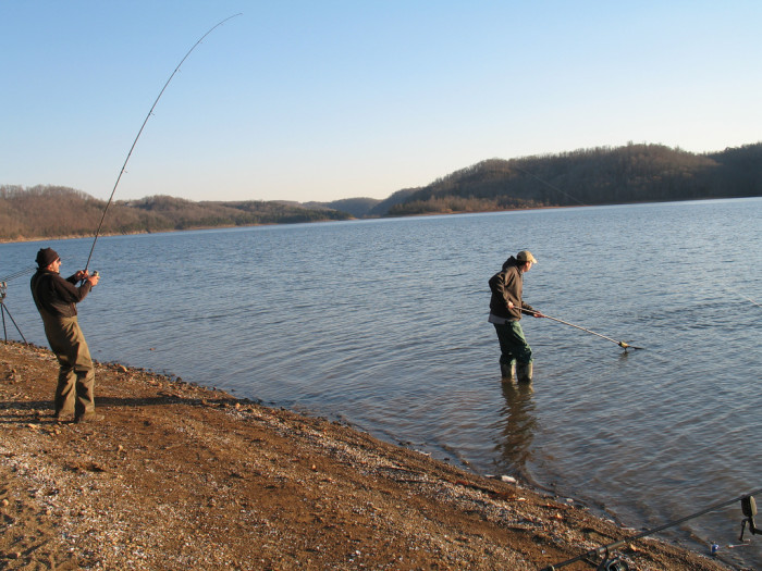 7) Gone fishin' early in the morning