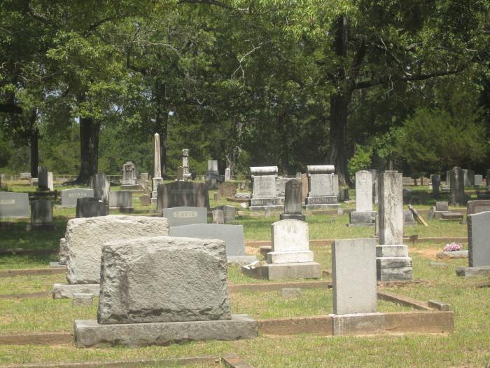 8) Graves at Old Castor Cemetery, Castor, LA