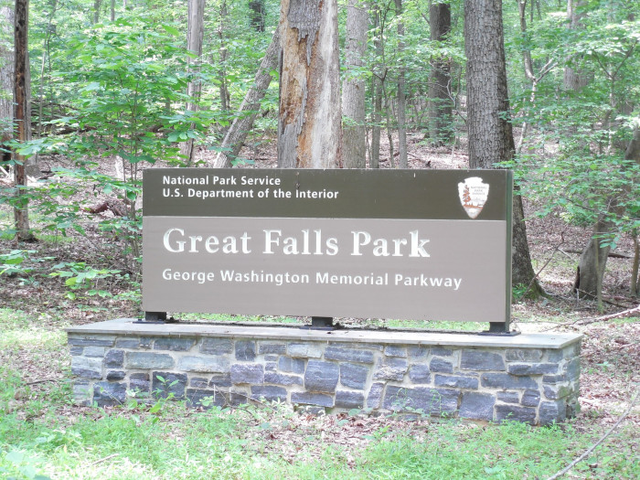 Great Falls Park Sign