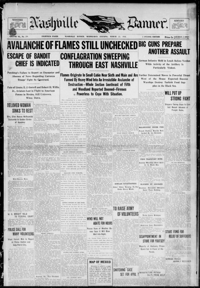 Nashville - Great Nashville Fire of 1916