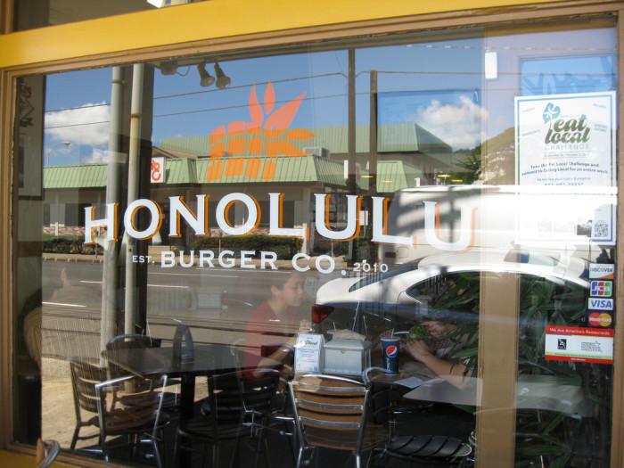 5) Honolulu Burger Co, Oahu