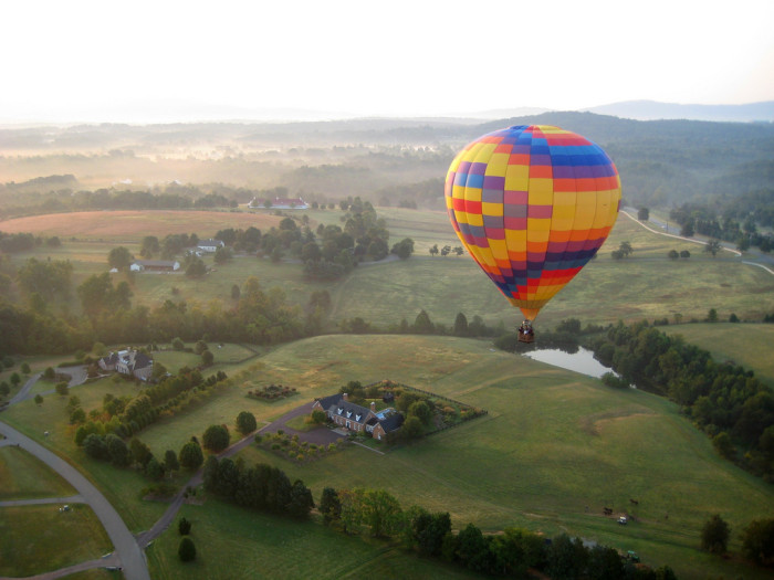 2. Hot Air Balloon over Chartottesville