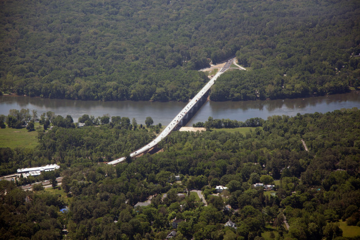 13. The Hugenot Bridge over the James River