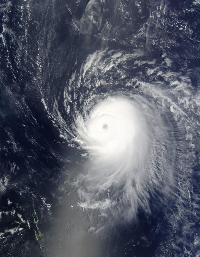 7) When Hurricane Ike barreled into the Texas coastline on September 1, 2008.