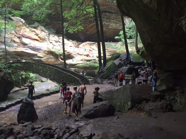 4) Take refuge from the sun's rays within the beautiful gorges, caves and waterfalls of Old Man's Cave at Hocking Hills State Park.