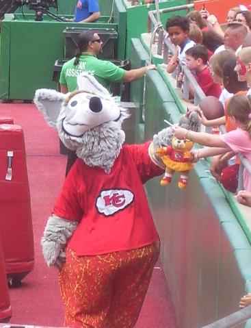 """11.) Feeling a sense of relief when the Chiefs replaced their """"Indian man"""" mascot with K.C. Wolf"""