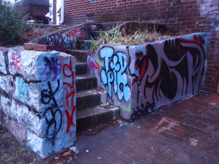 9) Stairwell art