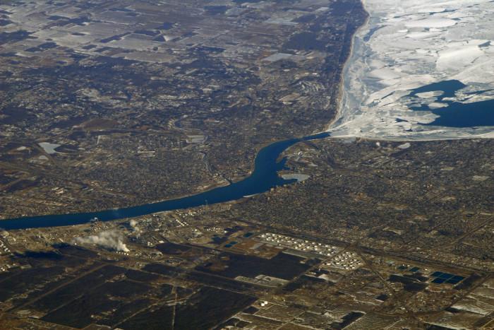 3) Ice on Lake Huron