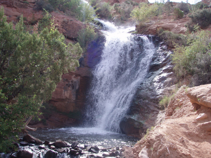 11) Little Dolores River Waterfall, Moab