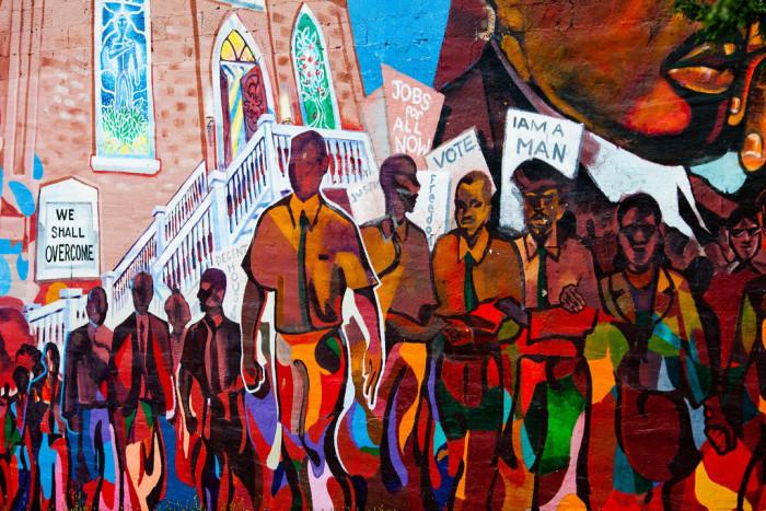 7) Martin Luther King Jr. mural, Detroit